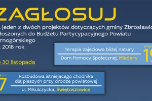 Głosuj na projekty w gminie Zbrosławice!