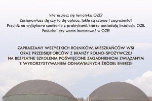 "Zaproszenie na Szkolenie pt. ""OZE - szansa na inno"